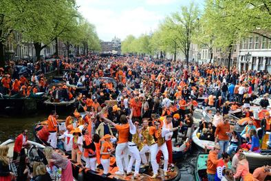 Celebrating Kingsday in Amsterdam