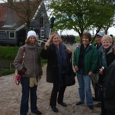 Marion with group Zaanse Schans