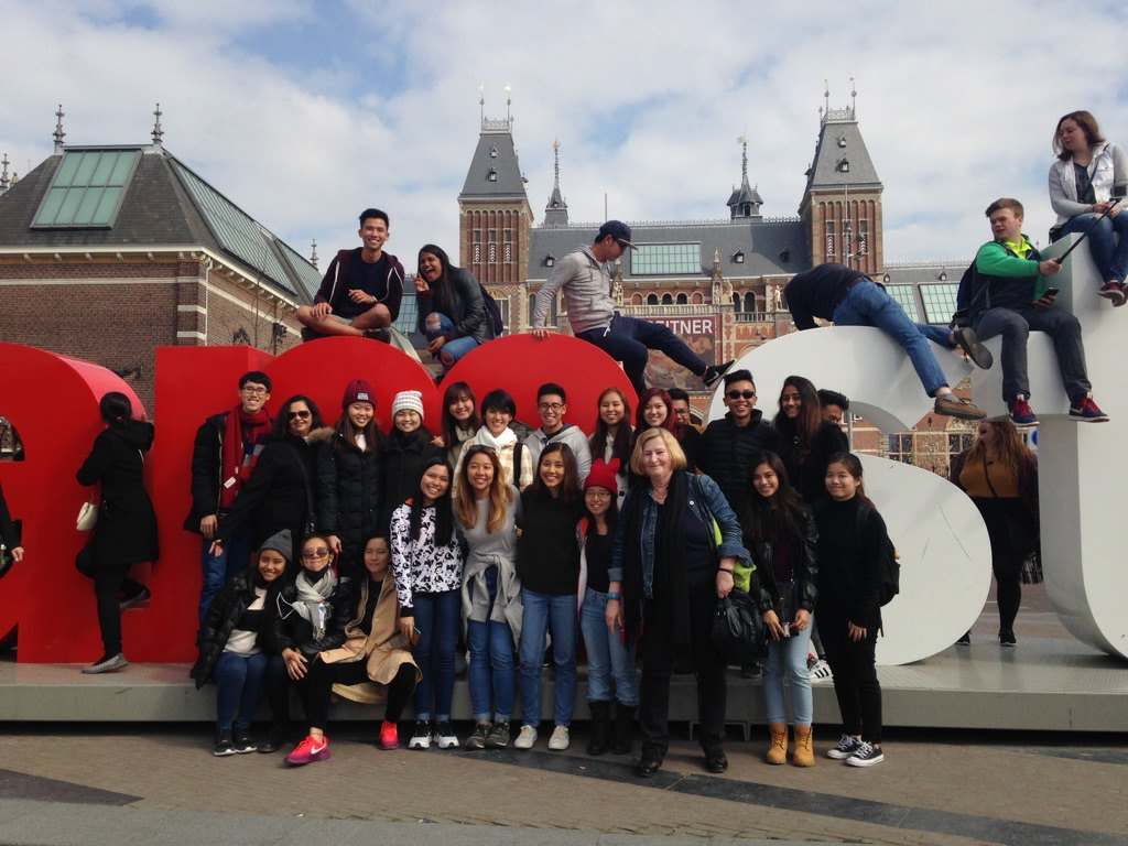 Temasek Polytechnic Global Citizenship 2016 from Singapore touring Amsterdam