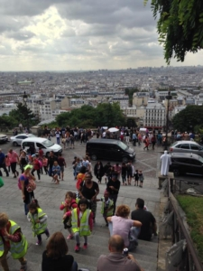 The Sacre Coeur and beautiful city view!